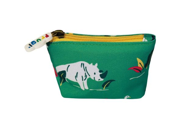 Frugi Coin Purse Rhino Ramble